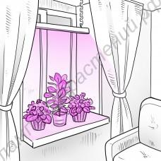 """Светильник LED на кронштейнах для рассады и вегетации растений """"Светлый помощник"""" с линзованными светодиодами общей мощностью 40Вт"""