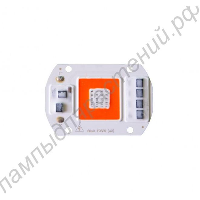 Бездрайверный светодиод биколорного спектра мощностью 50Вт